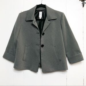 Jade Houndstooth Three Button Swing Jacket Size10P